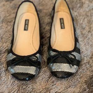 Nine West sequin ballerina shoes